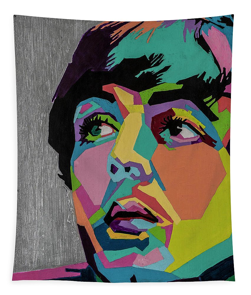 Paul Mccartney Tapestry featuring the painting Sir Paul McCartney by Stacie Marie