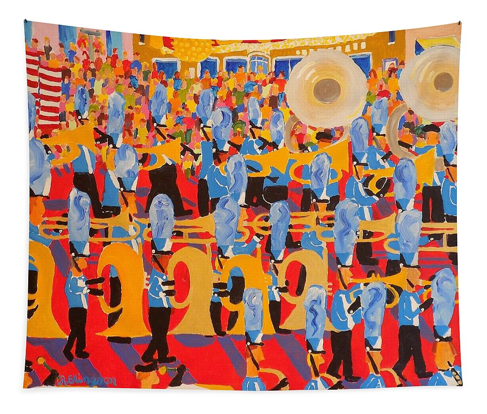 Lincoln Tapestry featuring the painting The Band by Rodger Ellingson