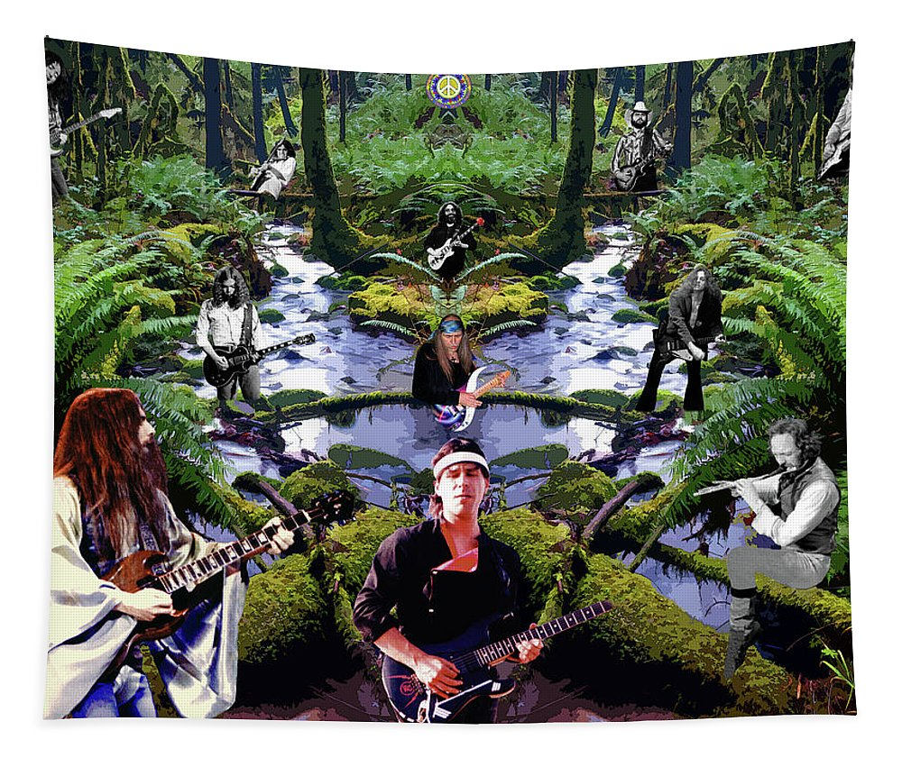 Rory Gallagher Tapestry featuring the photograph The Peace Creek Rockers by Ben Upham