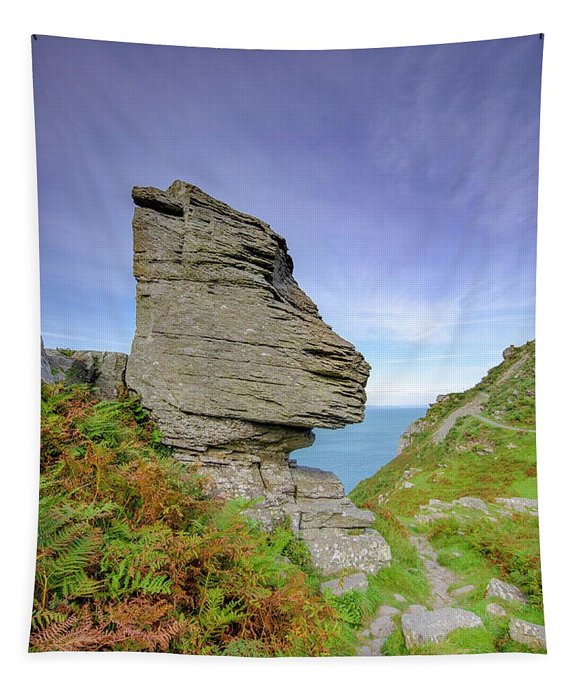 Valley Of The Rocks Tapestry featuring the mixed media Valley Of The Rocks by Smart Aviation