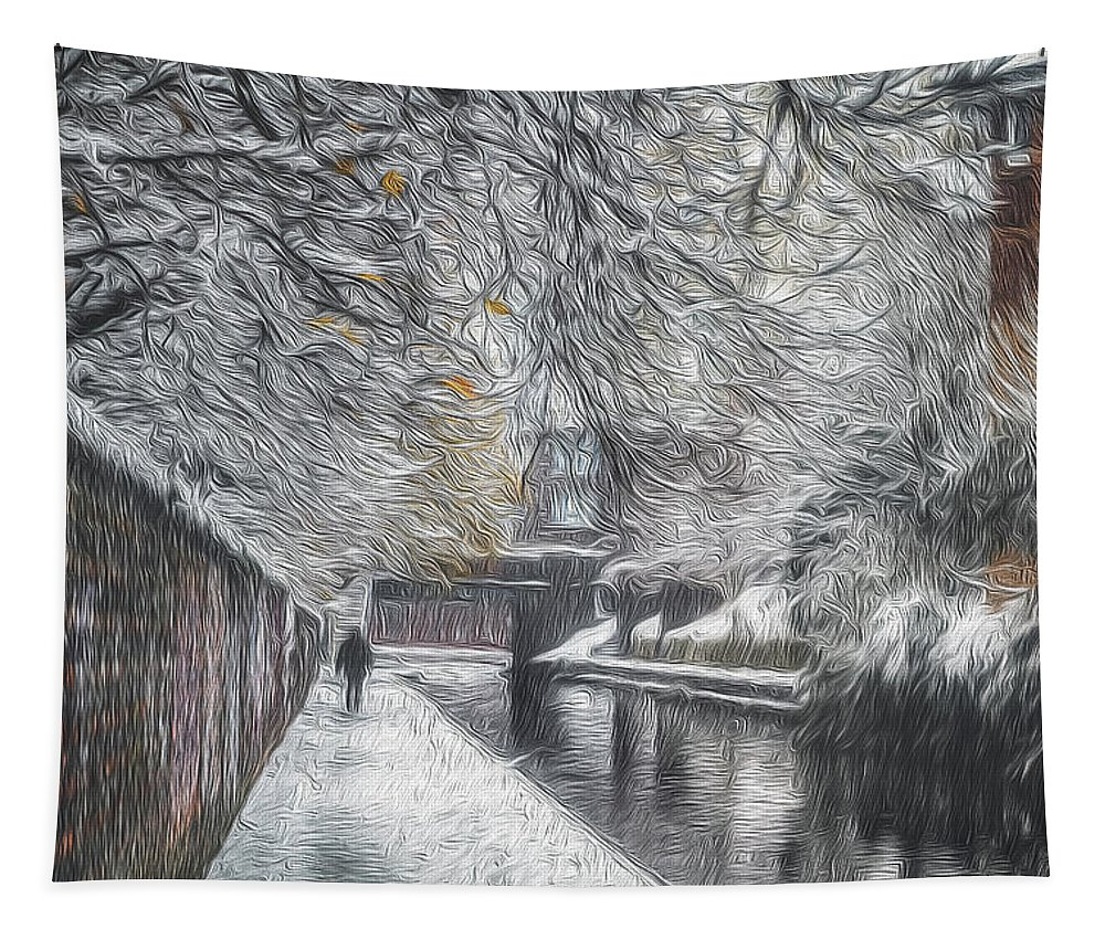 Architecture Tapestry featuring the photograph Winter In Gas Street 1 by Chris Fletcher