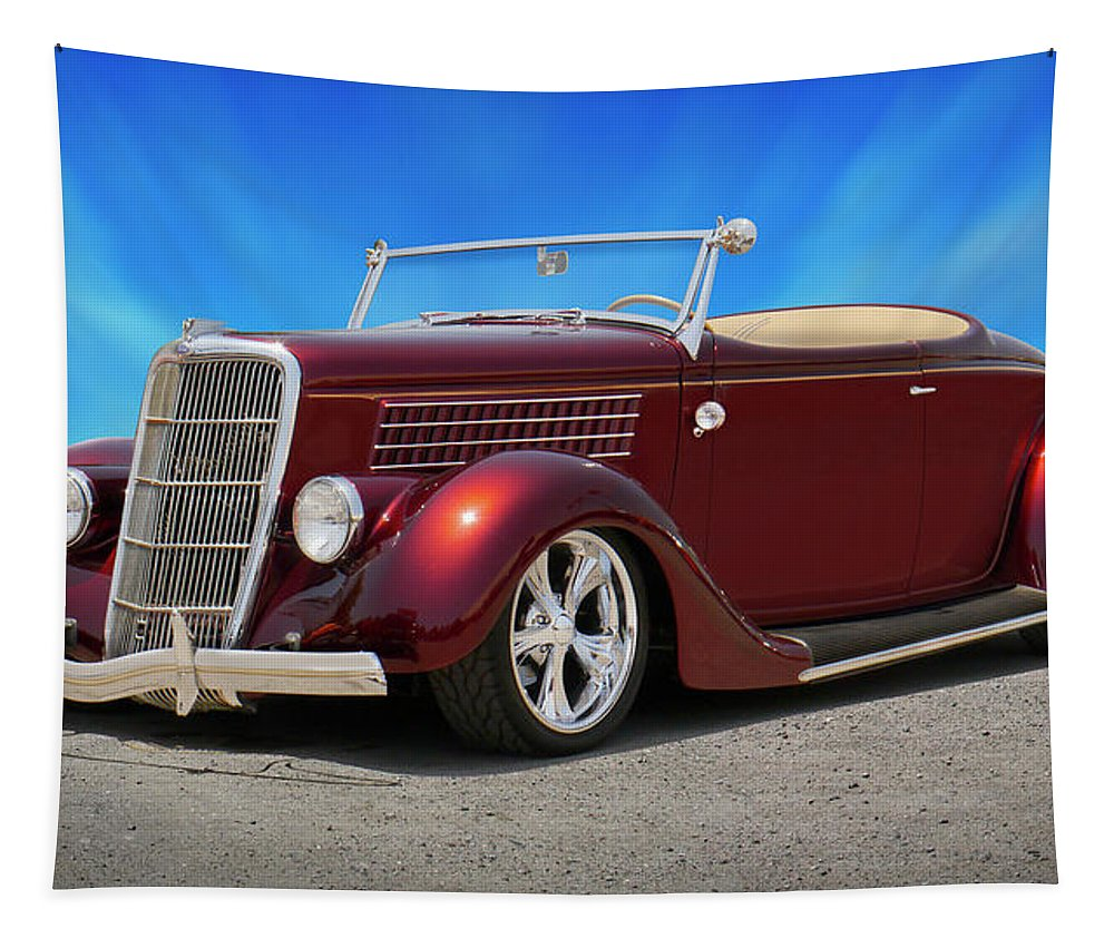 1935 Ford Tapestry featuring the photograph 1935 Ford Roadster by Mike McGlothlen