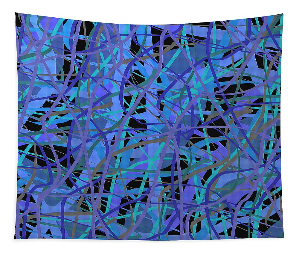 Abstract Art Tapestry featuring the digital art 1942 by Ely Arsha