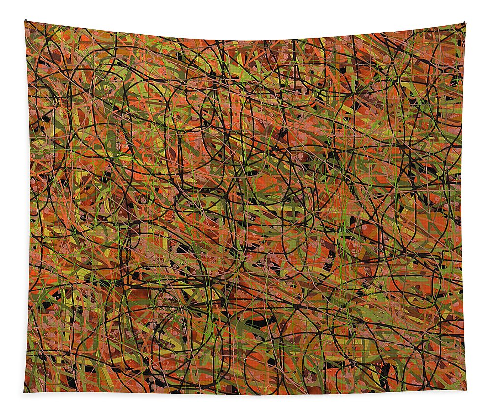 Abstract Art Tapestry featuring the digital art 1949 by Ely Arsha