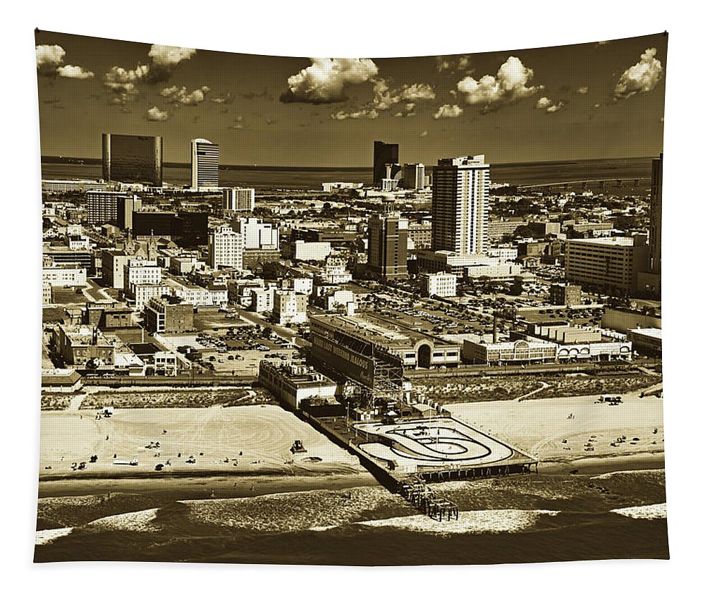 Atlantic City Tapestry featuring the photograph Atlantic City by Mountain Dreams