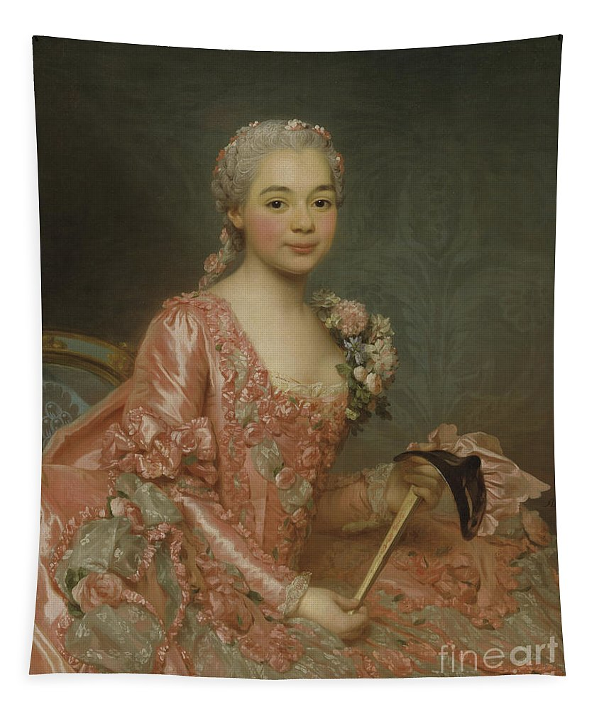Girl Tapestry featuring the painting Baroness De Neubourg-cromiere by Alexander Roslin