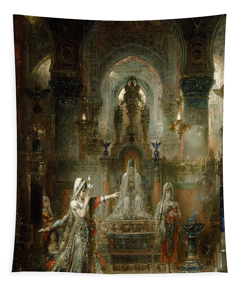 Salome Tapestry featuring the painting Salome Dancing Before Herod by Gustave Moreau