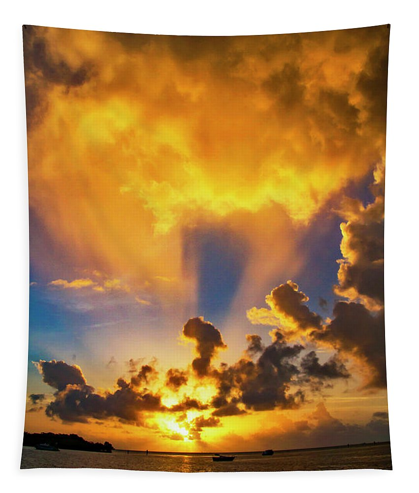 Sunrise Tapestry featuring the photograph 2016 First Sunrise 2 by Bob Slitzan