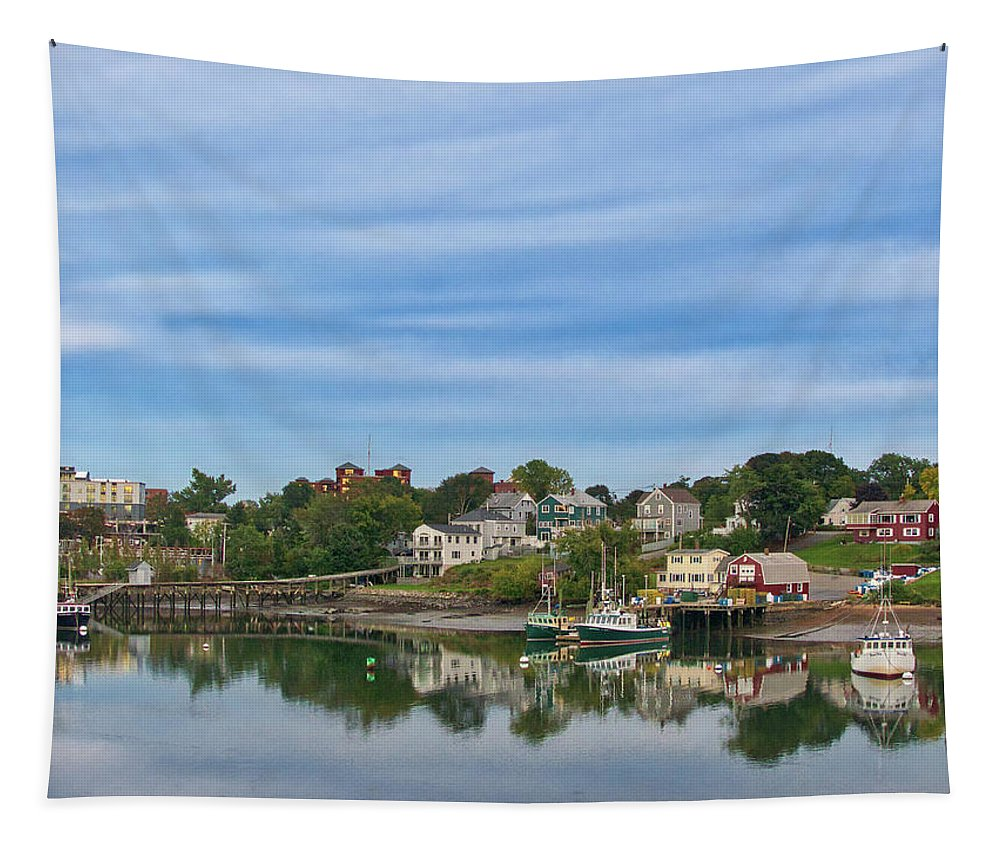 River Tapestry featuring the photograph Bartlett's Wharf by Scott Hufford