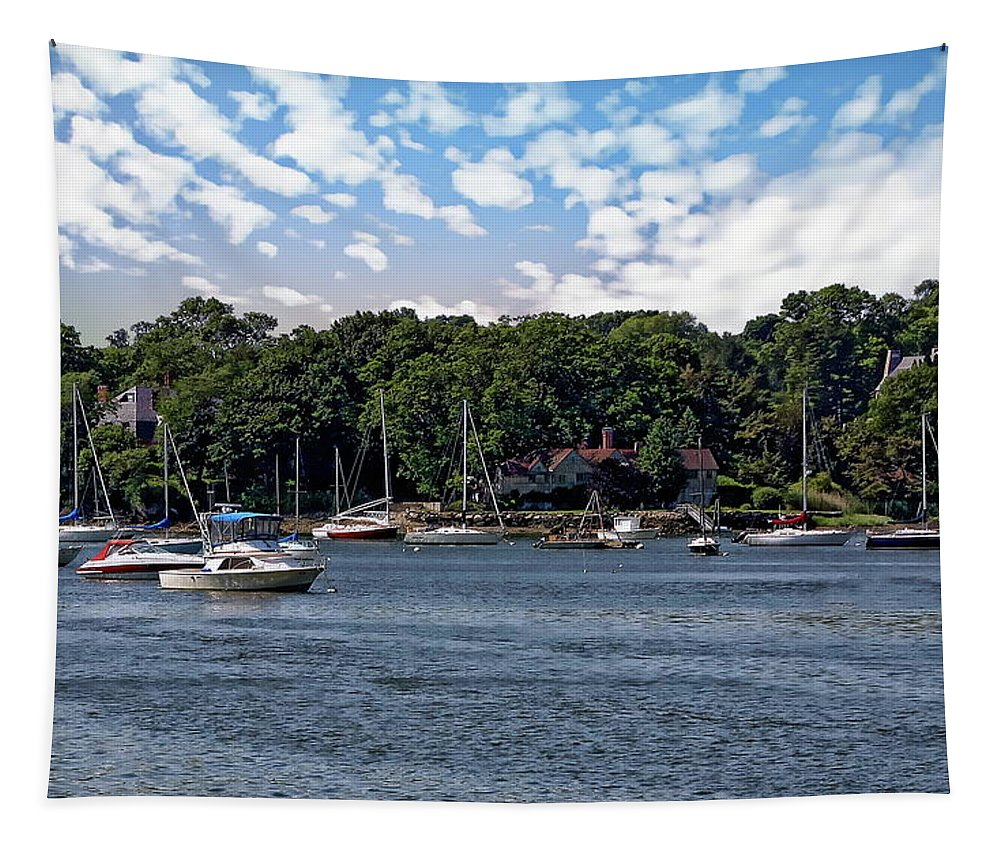 Anchor Tapestry featuring the photograph Greenwich Bay by Anthony Dezenzio