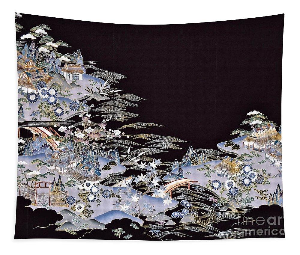 Tapestry featuring the digital art Spirit of Japan T53 by Miho Kanamori