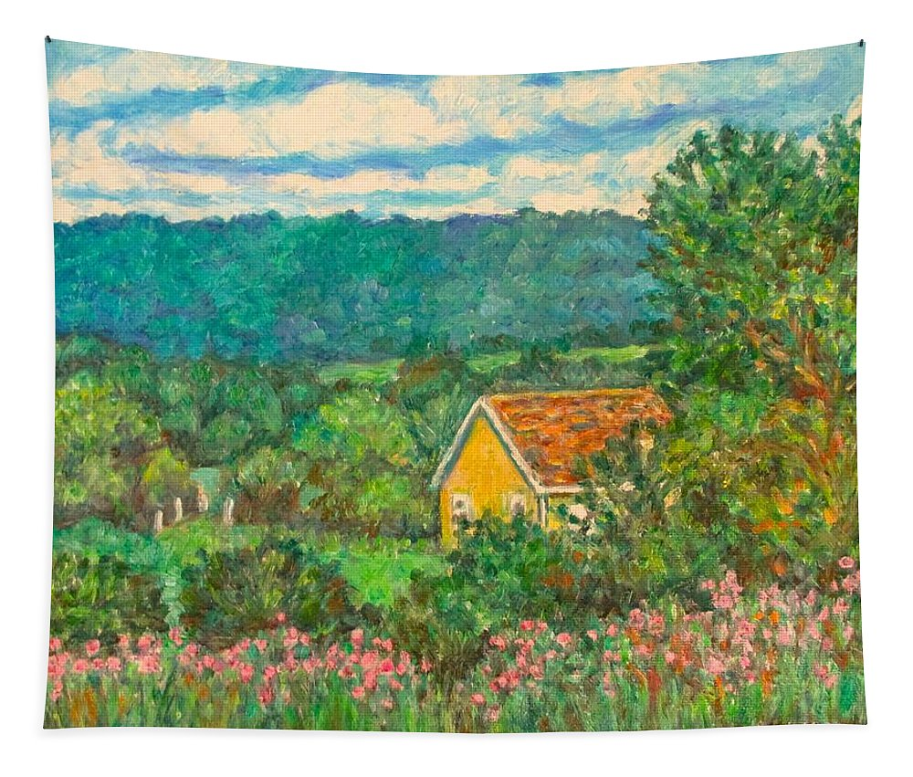 Landscape Tapestry featuring the painting 460 by Kendall Kessler