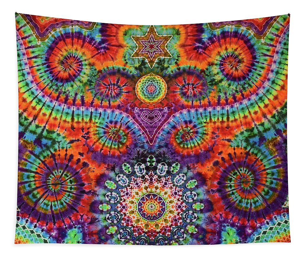 Rob Norwood Tie Dye Sacred Geometry Ice Dyes Psychedelic Art Tapestry featuring the digital art Oteils Tap by Rob Norwood