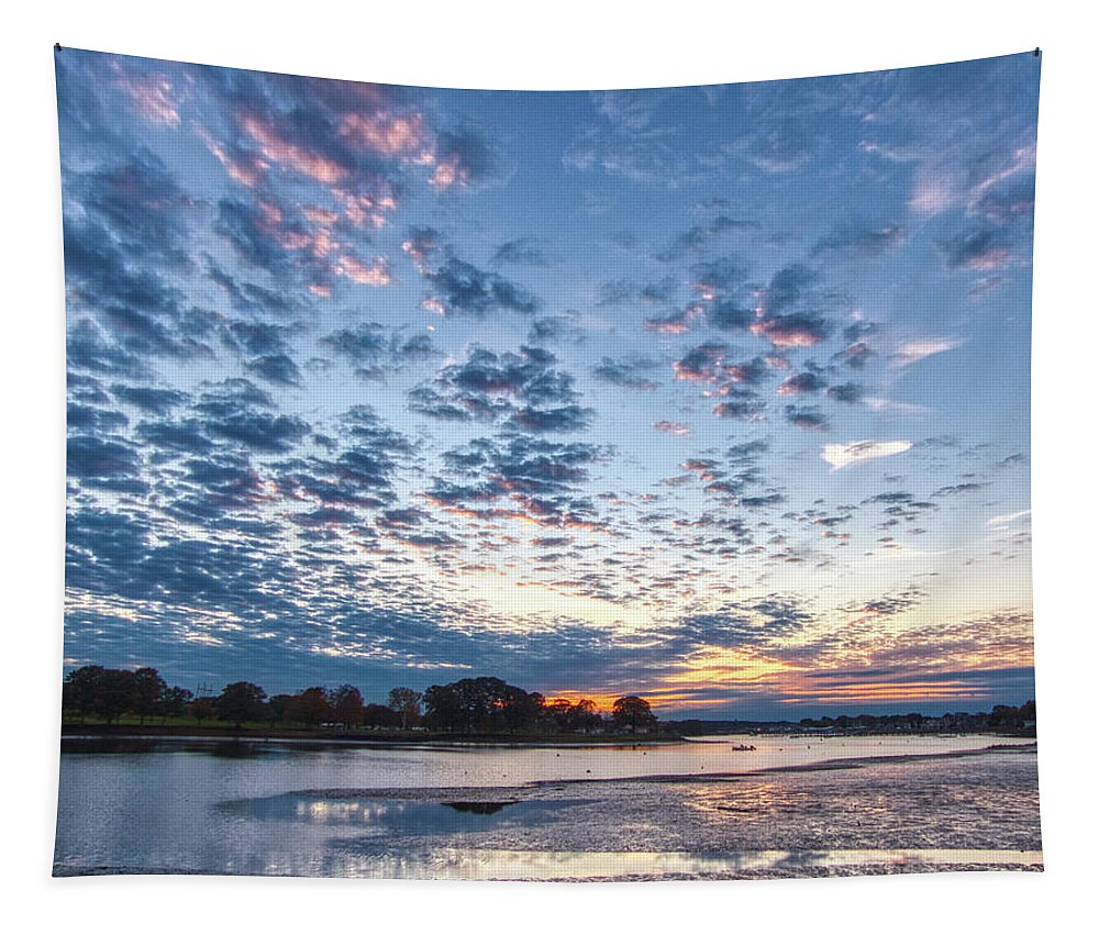 Sunset Tapestry featuring the photograph Danvers River Sunset by Scott Hufford