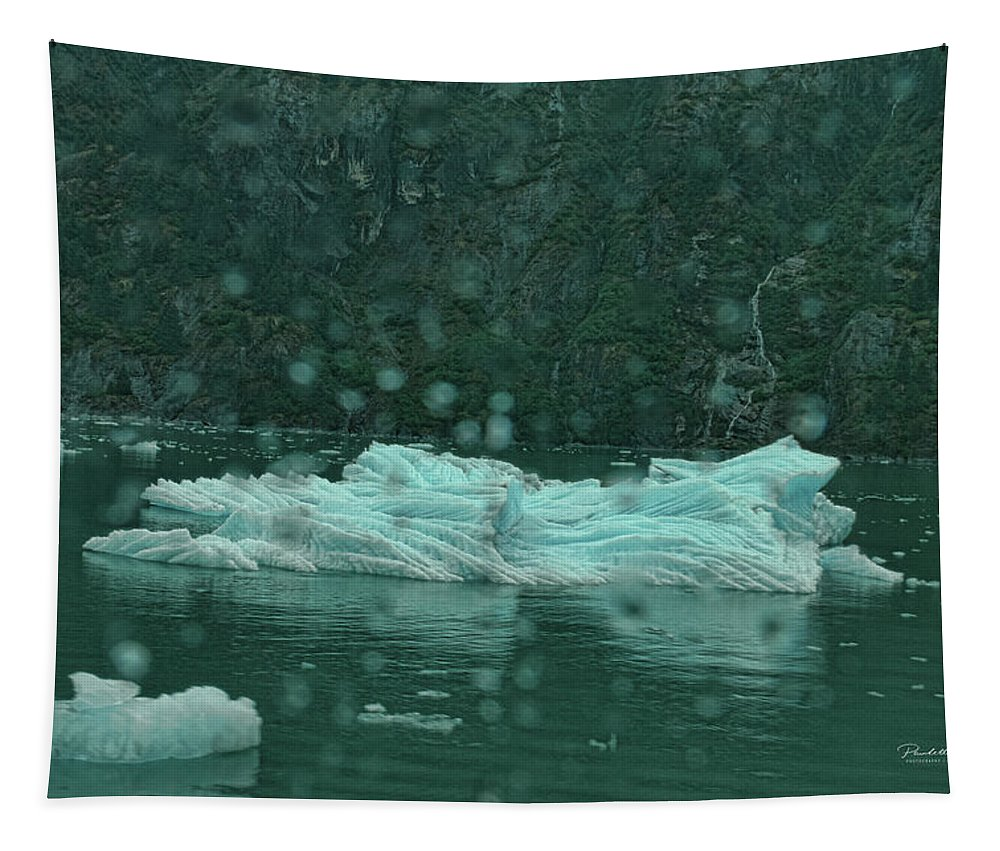 Top Tapestry featuring the photograph A Large Chunk Of Glacier by Paulette B Wright