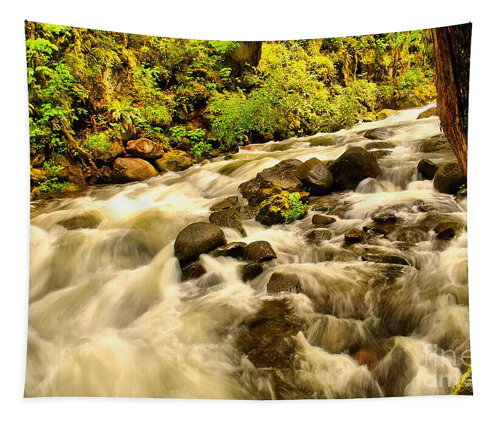 Water Tapestry featuring the photograph A River Turns by Jeff Swan