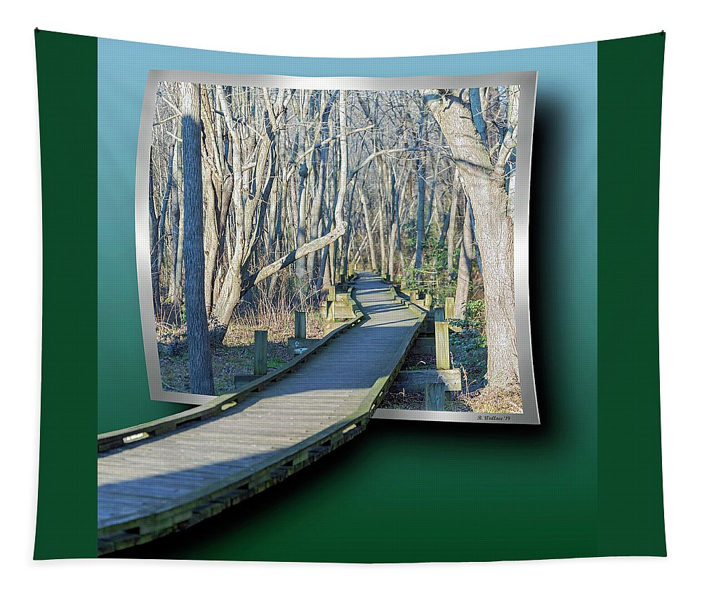 2d Tapestry featuring the photograph Abbott's Mill Nature Trail Oof by Brian Wallace