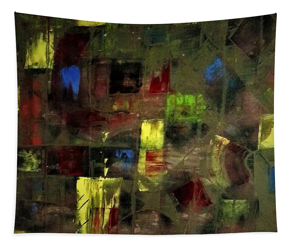 Abstract Fine Art Wall-art Painting Print Shirt Apparel Tapestry featuring the painting Abstract Patchwork by Brant Hippard