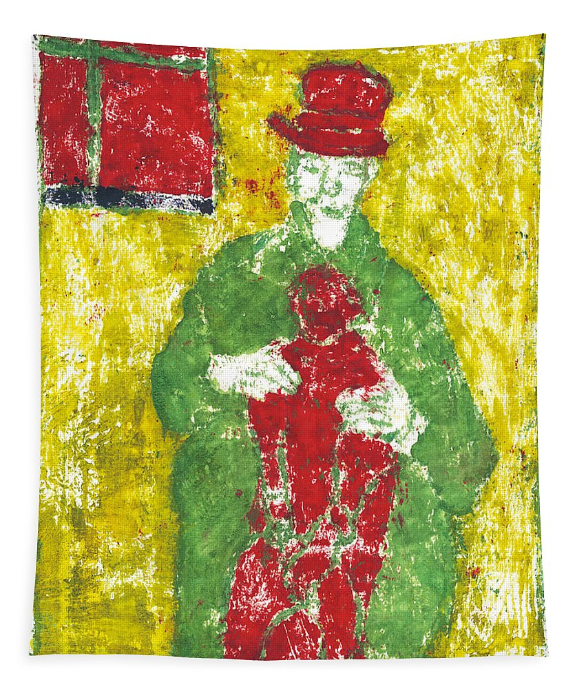 Painting Tapestry featuring the painting After Billy Childish Painting Otd 23 by Artist Dot