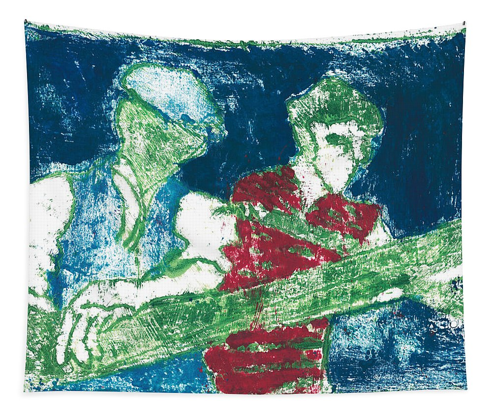 Painting Tapestry featuring the painting After Billy Childish Painting Otd 33 by Artist Dot