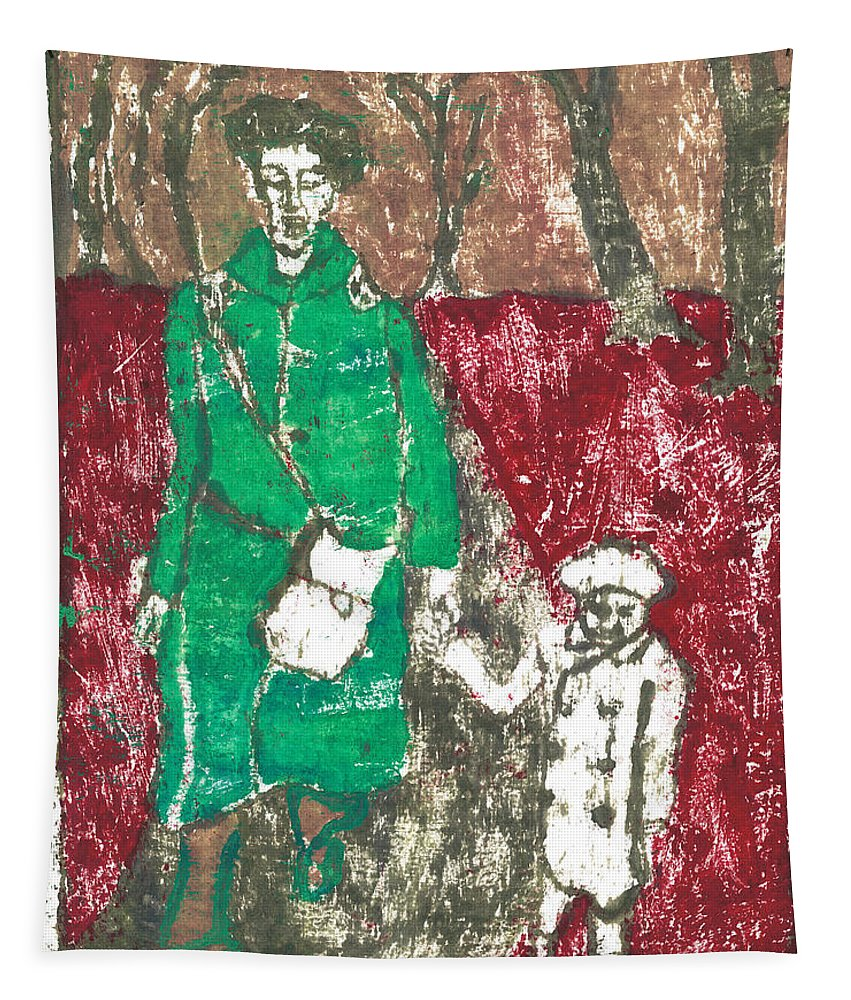 Painting Tapestry featuring the painting After Billy Childish Painting Otd 45 by Artist Dot