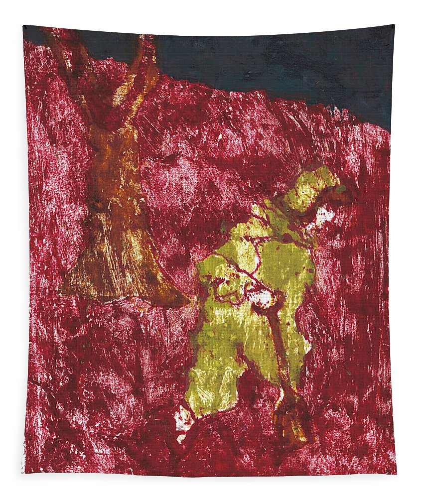 Painting Tapestry featuring the painting After Billy Childish Painting Otd 7 by Artist Dot