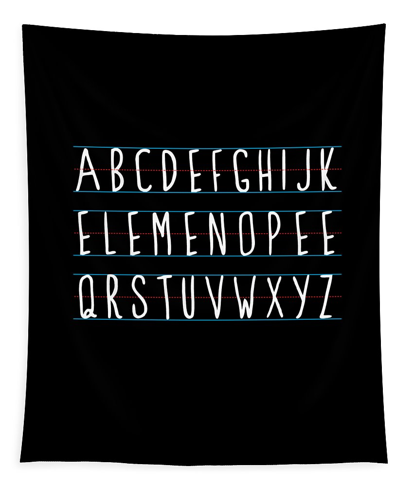 Cool Tapestry featuring the digital art Alphabet Elemeno by Flippin Sweet Gear