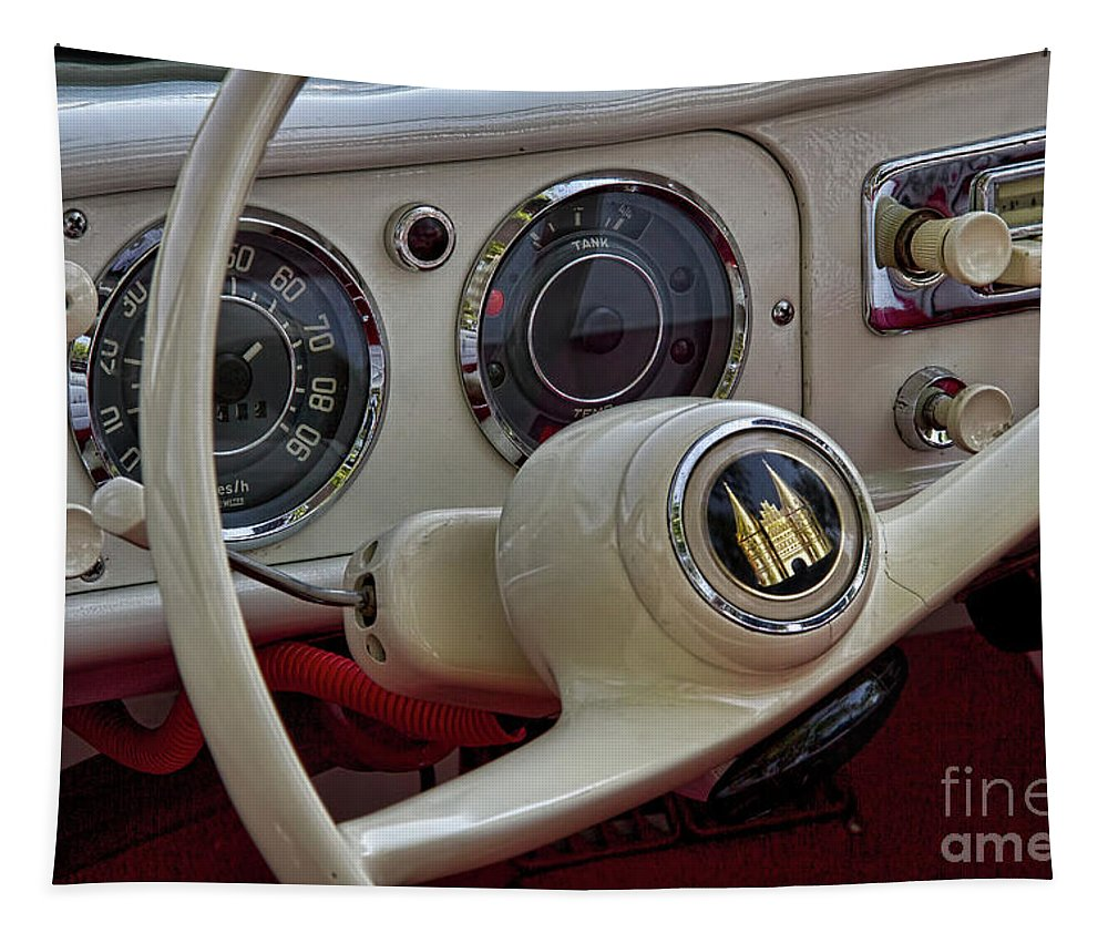 Amphicar Tapestry featuring the photograph Amphicar 770 Car Boat by Nick Gray