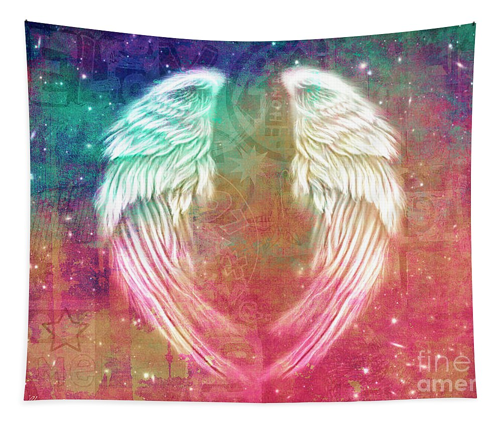 Angel Tapestry featuring the digital art Angel Wing by Mark Ashkenazi