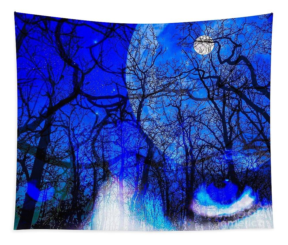 Digital Art Tapestry featuring the digital art Animal Instinct by Aranka Marin