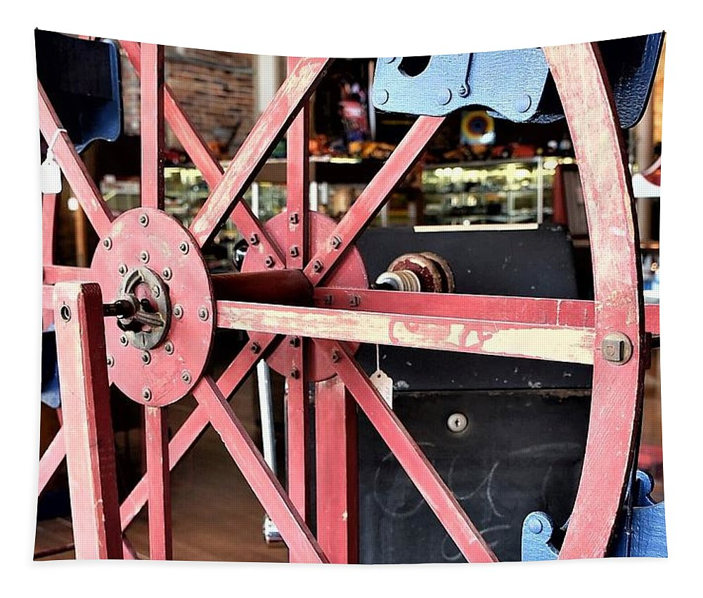 Ferris Wheel Tapestry featuring the photograph Antique Toy Ferris Wheel by Kim Bemis