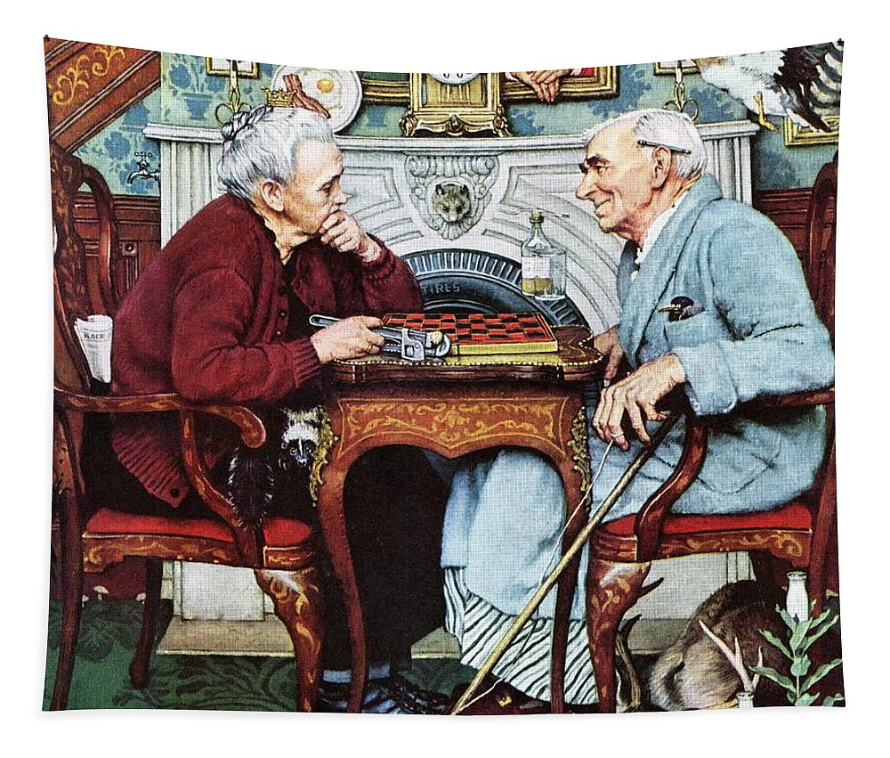 April Fools Tapestry featuring the drawing April Fool, 1943 by Norman Rockwell