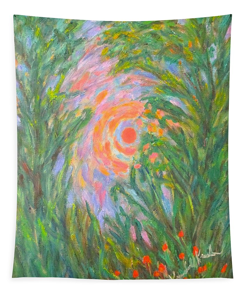 Sun Tapestry featuring the painting Around The Sun by Kendall Kessler