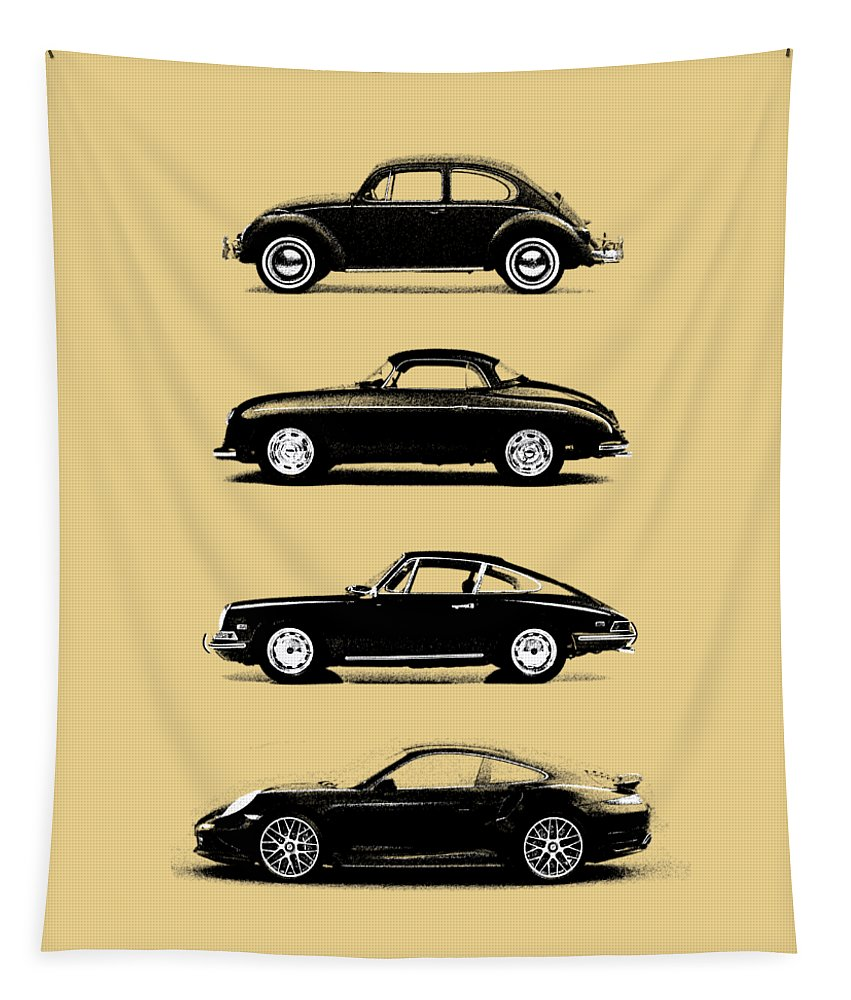 Porsche Tapestry featuring the photograph Evolution by Mark Rogan