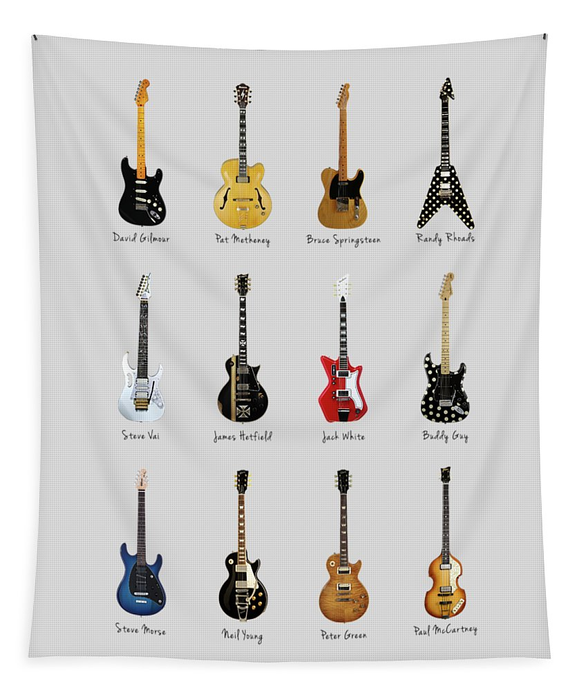 Fender Stratocaster Tapestry featuring the photograph Guitar Icons No2 by Mark Rogan