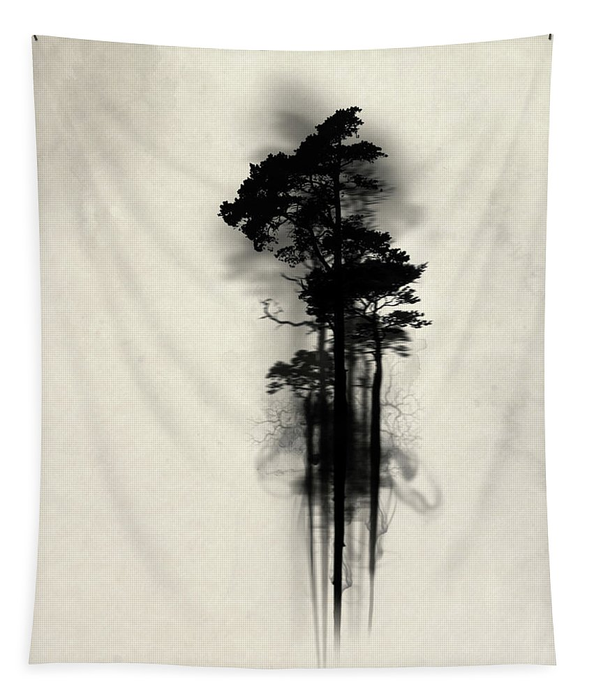 Forest Tapestry featuring the painting Enchanted Forest by Nicklas Gustafsson