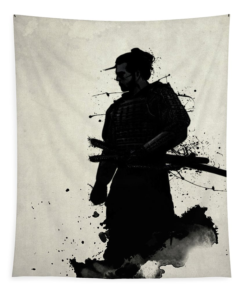 Samurai Tapestry featuring the painting Samurai by Nicklas Gustafsson