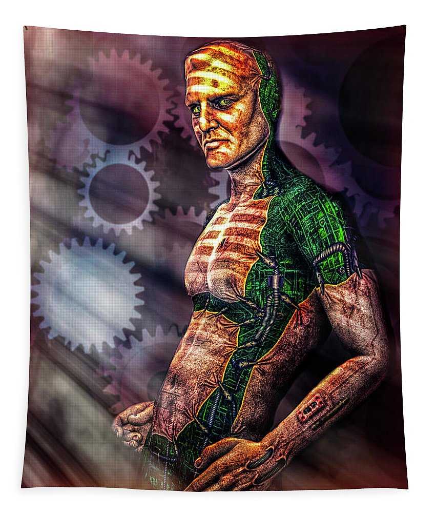 Assimilation Tapestry featuring the digital art Assimilation by Bob Orsillo