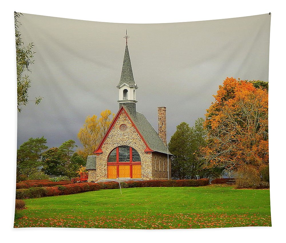 Autumn At Grand Pre Tapestry featuring the photograph Autumn At Grand Pre by Karen Cook
