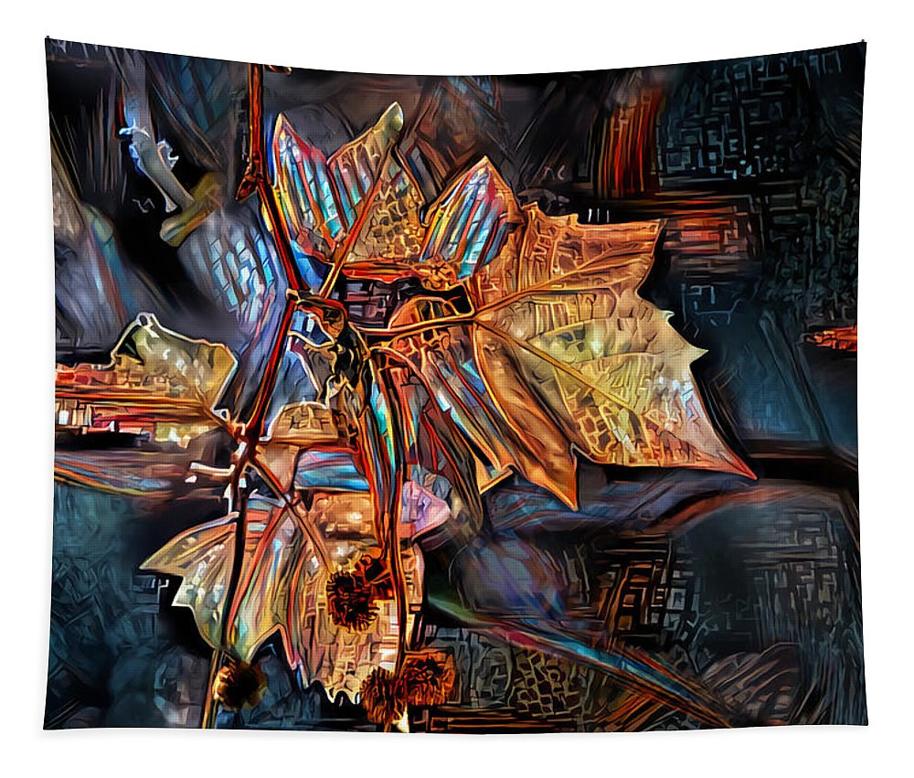 Autumn Tapestry featuring the digital art Autumn Leaves by Artly Studio