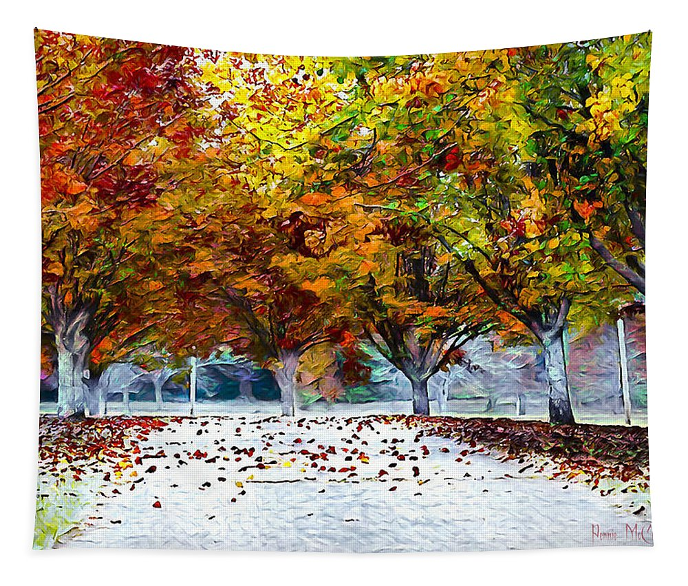 Autumn Tapestry featuring the digital art Autumn Trees by Pennie McCracken