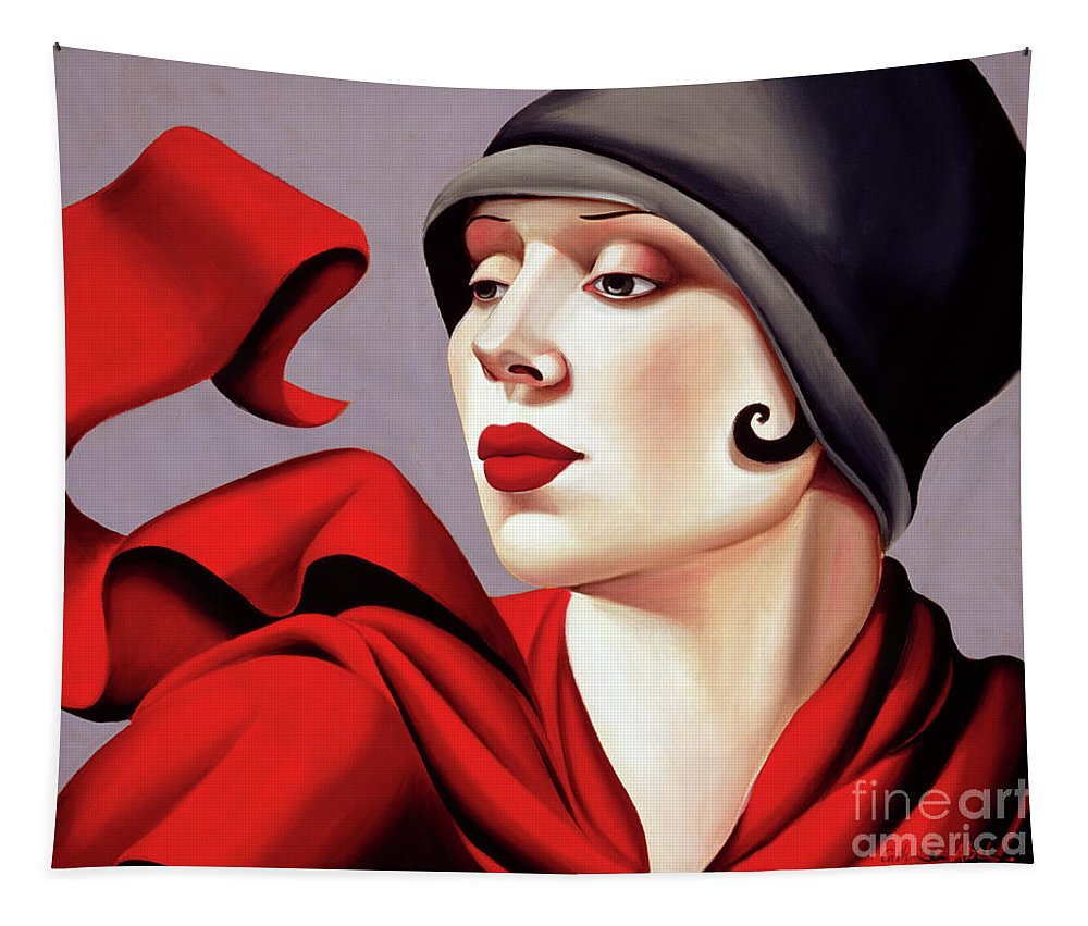 30s Tapestry featuring the painting Autumn Zephyr by Catherine Abel