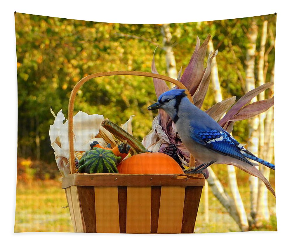 Autumn's Bounty Tapestry featuring the photograph Autumn's Bounty by Karen Cook