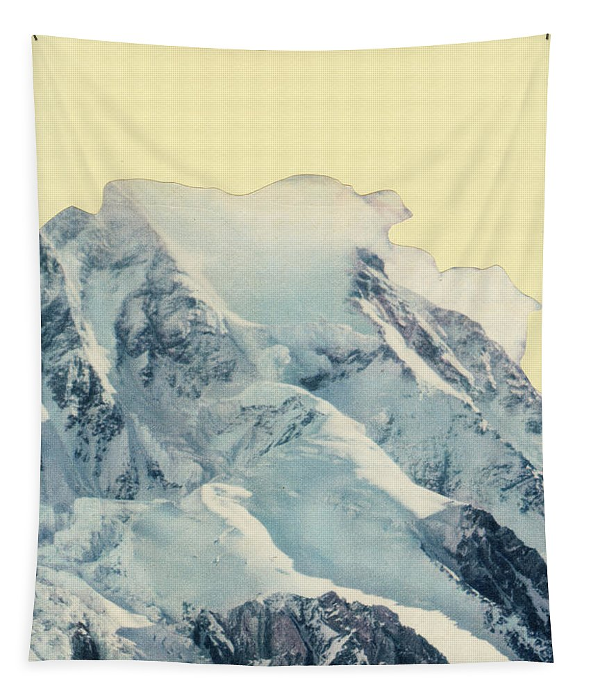 Mountains Tapestry featuring the mixed media Avalanche by Cassia Beck