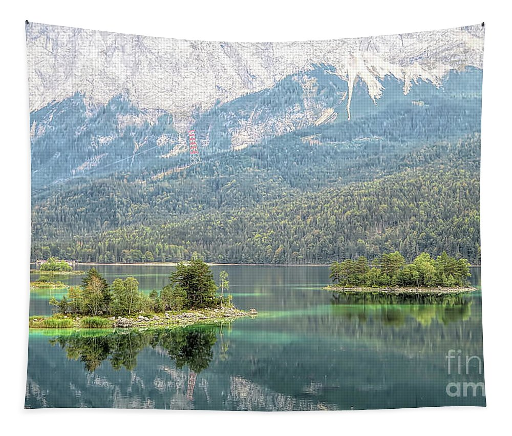 Island Tapestry featuring the photograph Bavarian Islands by Elisabeth Lucas