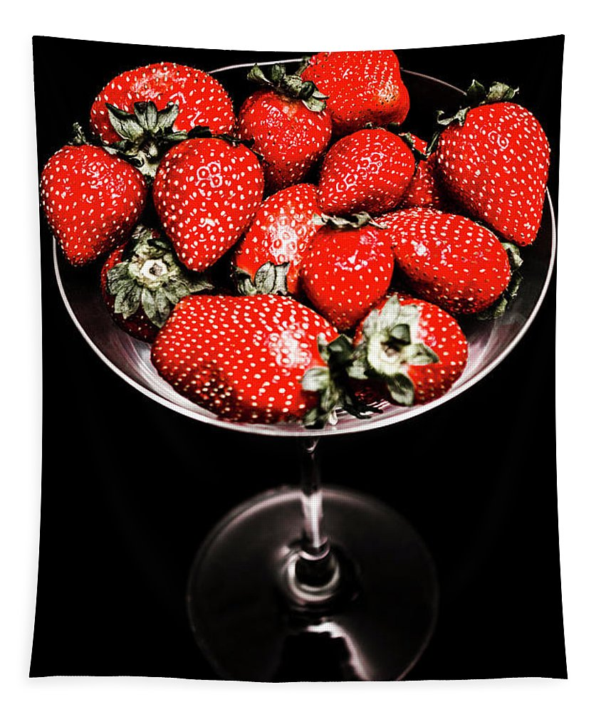 Food Tapestry featuring the photograph Berry Tonic by Jorgo Photography - Wall Art Gallery