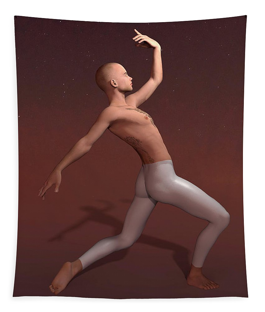 Classical Dance Tapestry featuring the digital art Billy by Joaquin Abella