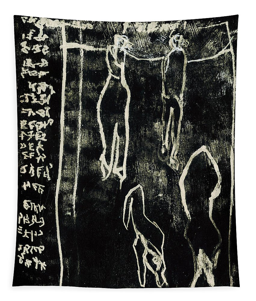 Black Ivory Tapestry featuring the drawing Black Ivory Issue 1b78a by Artist Dot