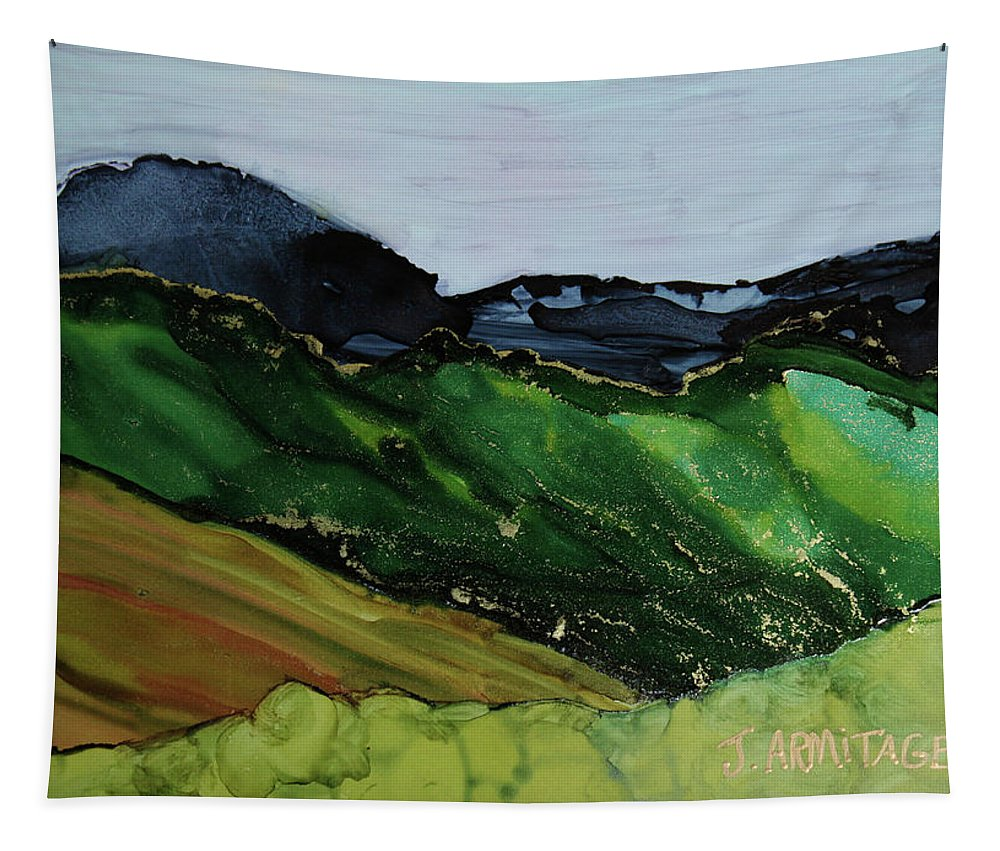 Blue Mountains Tapestry featuring the photograph Blue Mountains IIi by Jenny Armitage