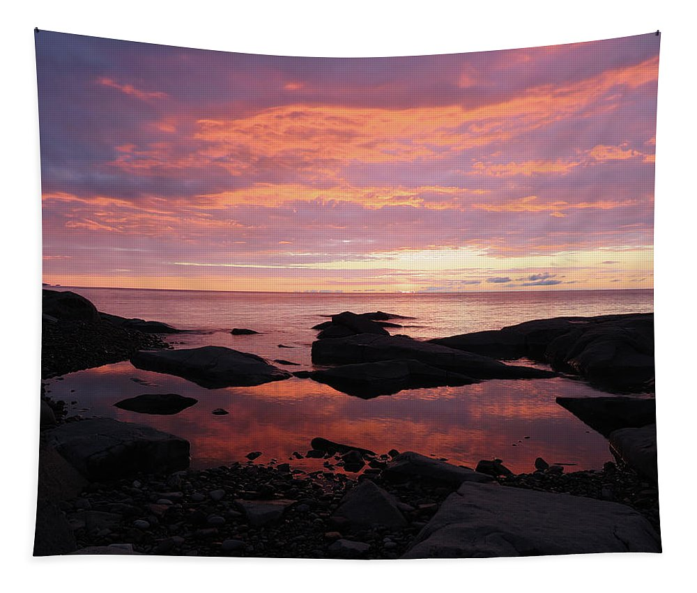 Lake Superior Tapestry featuring the photograph Brighton Beach by Alison Gimpel